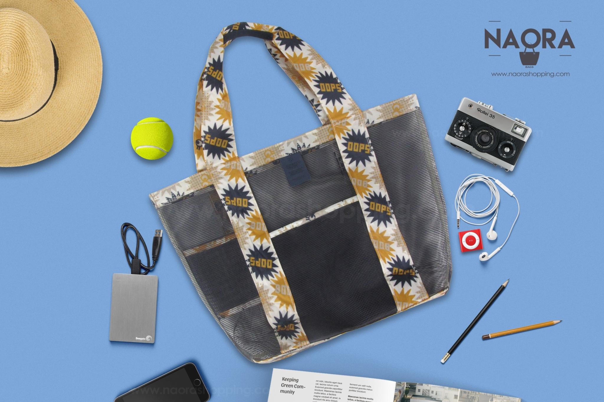 กระเป๋าสะพายข้างตาข่ายสีสวย