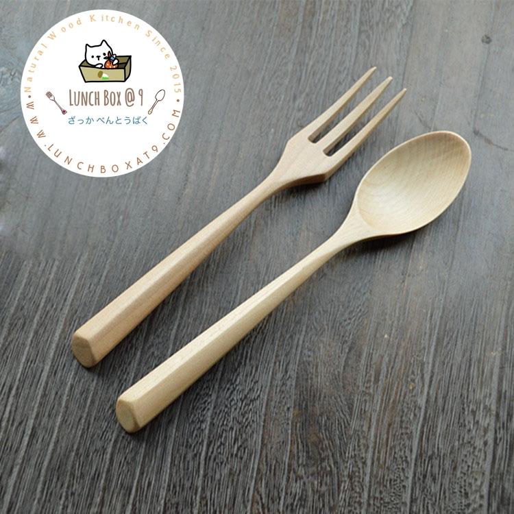 Spoon & Fork Wood Set ช้อนส้อมไม้