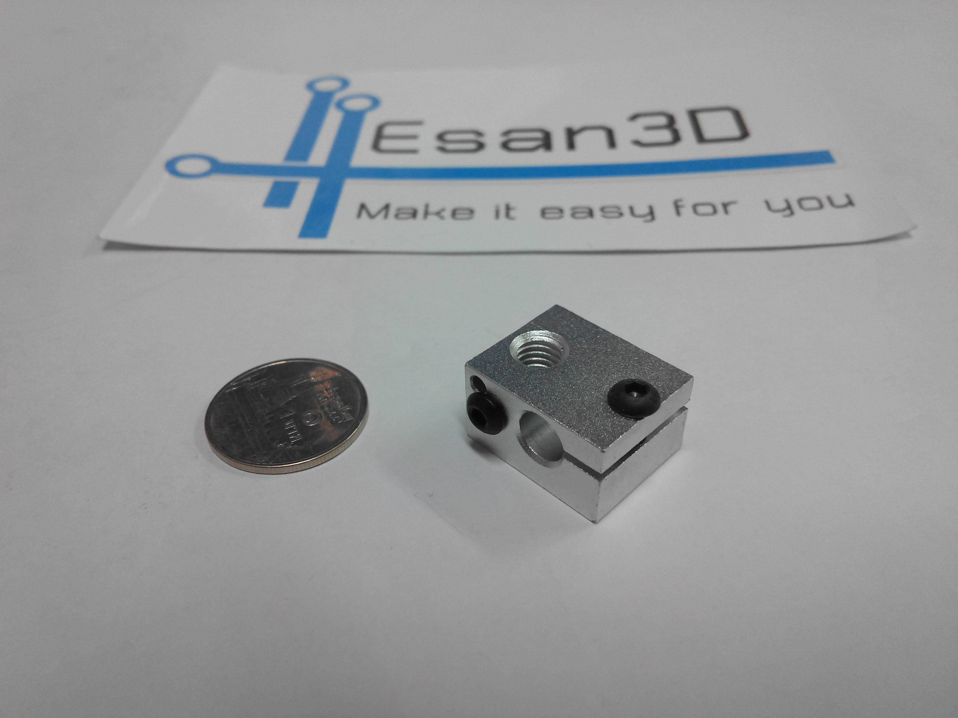 Aluminium Heat Block for E3D V6 J-head 3D Printer Makerbot