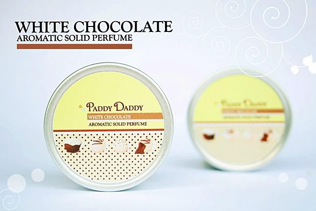 Aromatic Solid Perfume White Chocolate น้ำหอมแห้ง แพดดี้แดดดี้ กลิ่นไวท์ช๊อคโกแล๊ต (กลิ่นคล้ายน้ำหอม Britney Spears Fantasy)