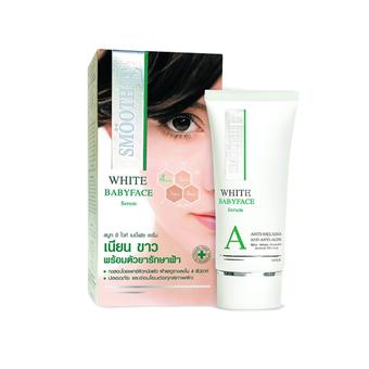 Smooth E White Babyface Serum 0.8 OZ ดูแล ฝ้าที่ผ่านการทดสอบโดยแพทย์ผิวหนัง สำเนา