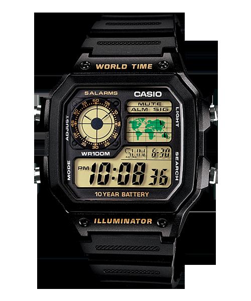 นาฬิกา คาสิโอ Casio 10 YEAR BATTERY รุ่น AE-1200WH-1BV