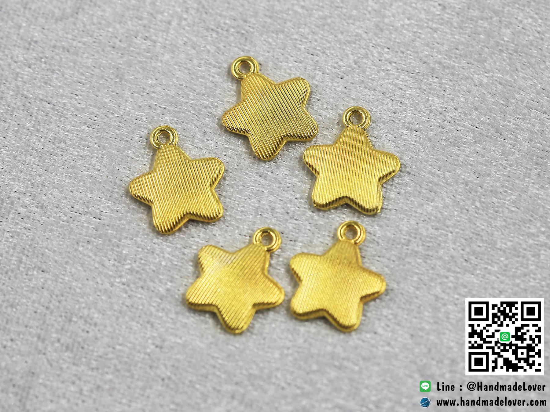 จี้โลหะ สีทอง รูปดาว