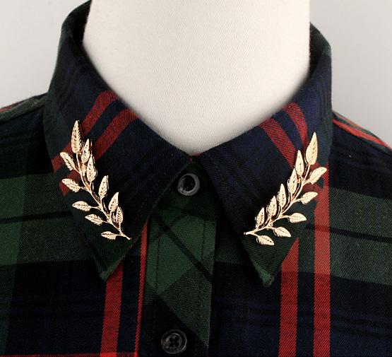 พร้อมส่ง Leafs Collar Clip