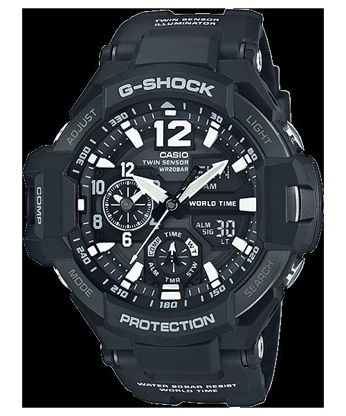 นาฬิกา คาสิโอ Casio G-SHOCK นักบิน GRAVITYMASTER รุ่น GA-1100-1A