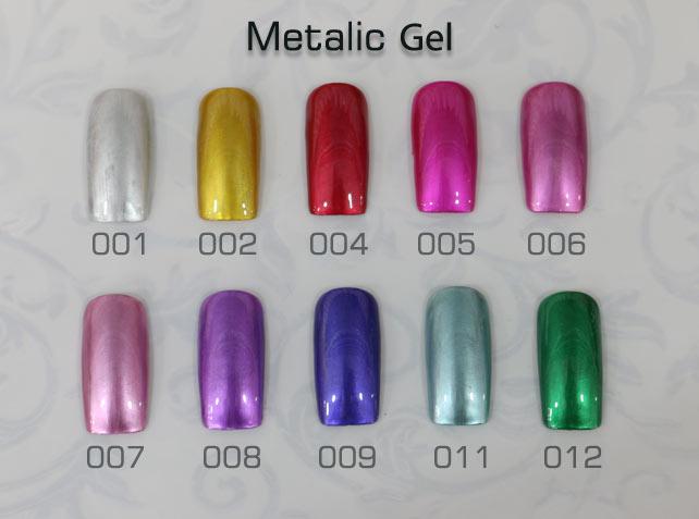 สีเจลเมททาลิค Metallic Gel