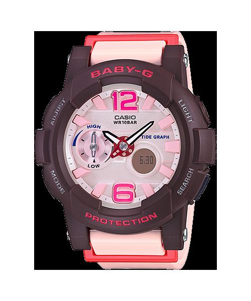 นาฬิกา คาสิโอ Casio Baby-G Standard ANALOG-DIGITAL รุ่น BGA-180-4B4 (สีชมพูนม) ของแท้ รับประกัน1ปี