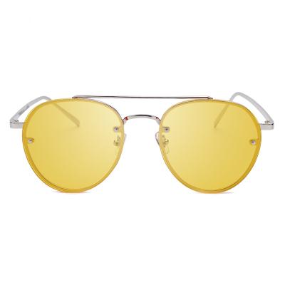 แว่นตา ฮาราจูกุ (Harajuku) สีเหลือง กรอบสีทอง (UV400)