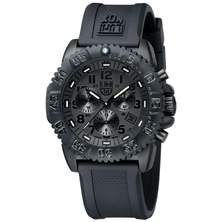 นาฬิกา Luminox รุ่น LUMINOX 3081.BO Men Navy SEAL Blackout Chronograph