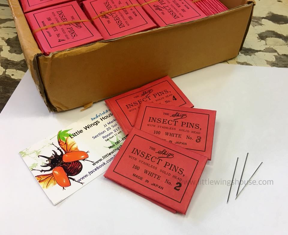 ++ เข็มเซ็ทแมลง/เข็มปักแมลง เบอร์ 2 บรรจุ 100 ชิ้น ++ Insect Pin Made in Japan