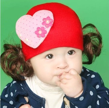หมวกปอยผม-แต่งหัวใจอันใหญ่น่ารักมาก