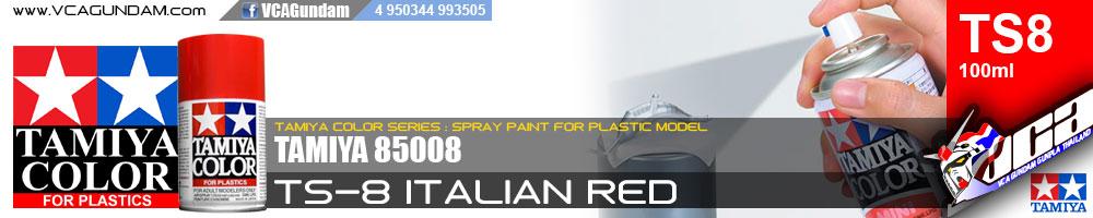 TAMIYA 85008 TS-8 ITALIAN RED