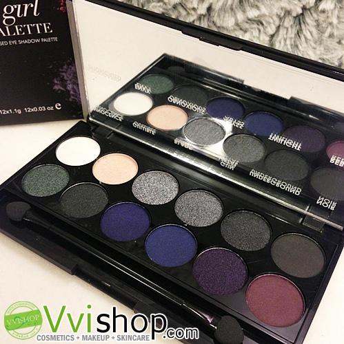 Sleek i - Divine Bad Girl Eyeshadow Palette # 596 พาเลท อายชาโดว์ โทนสโมกกี้ เข้ม คม เปรี้ยว *พร้อมส่ง*