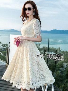 Lady Nasha Sweet Classic White Lace Dress