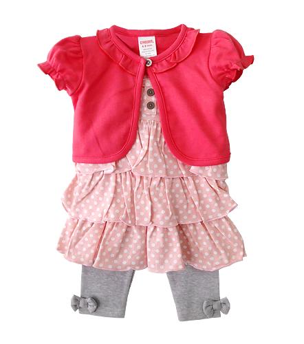 เสื้อผ้าเด็กขายส่ง ชุด 3 ชิ้น ชุดกระโปรง พร้อมเสื้อคลุมผ้าคอตตอนเนื้อนุ่ม สวยน่ารัก