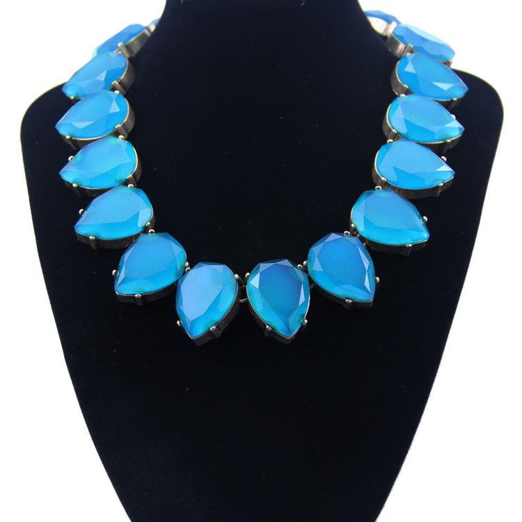 y1476 - สร้อยหิน สร้อยคอ สร้อยหินนำโชค เครื่องประดับ crystal clavicle Ms. necklace