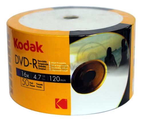 Kodak DVD-R 16X Printable (50 pcs/Plastic Wrap)