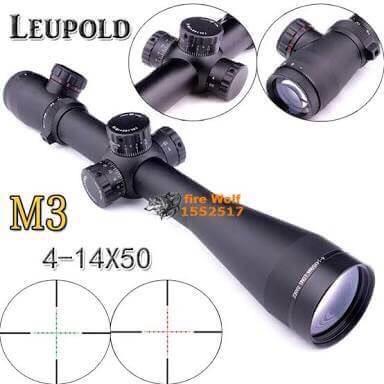 New.สินค้ามาใหม่ สโครปติดปืนจริง LEUPOLD MARK4 มาพร้อมข้อต่อบังแสง ระดับซูม 4-16x50 ราคาพิเศษ