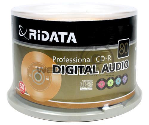 RiDATA CD-R Audio (50 pcs/Cake Box)