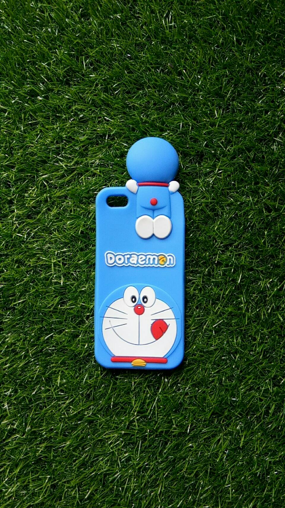 ซิลิโคนแมวสีฟ้าเกาะหลัง iphone5/5s/se