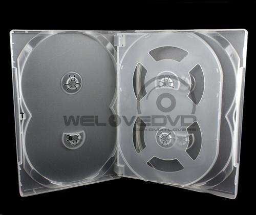 6 Discs DVD Case White with 1 Tray (10 Boxs)