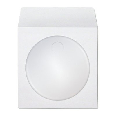 CD/DVD Sleeves White With Clear Window (50 pcs/Pack)