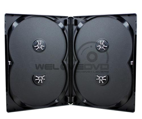 4 Discs DVD Slim Case Black (10 Boxs)