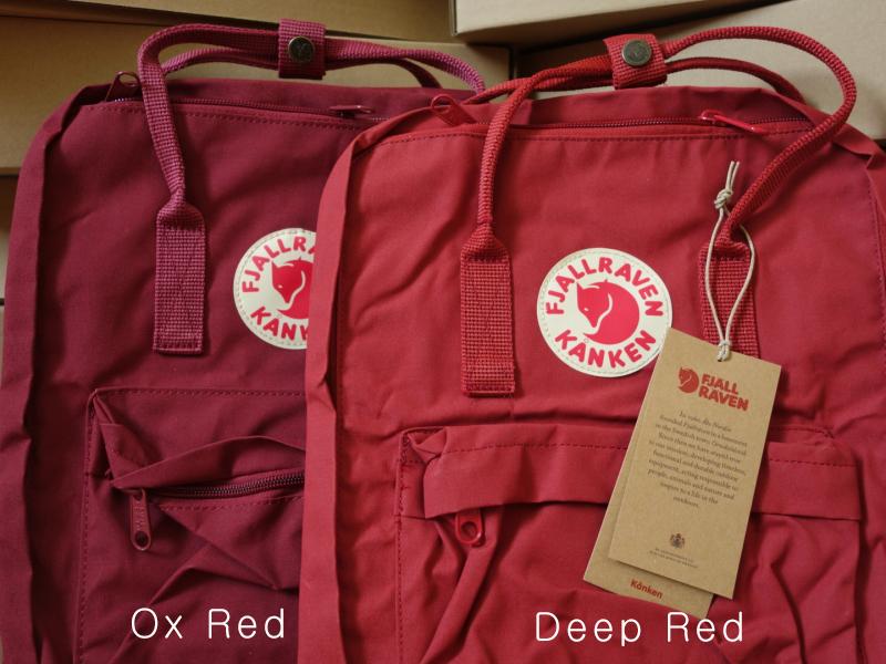 kanken ox red vs deep red