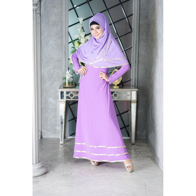 ชุดเดรสยาวพร้อมฮิญาบผ้าพัน ID04ชุดเดรสมุสลิมแฟชั่นสวยๆ เสื้อผ้าแฟชั่นมุสลิม