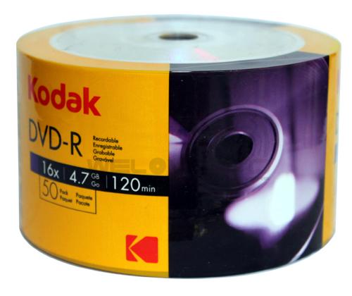Kodak DVD-R 16X Silver (50 pcs/Plastic Wrap)