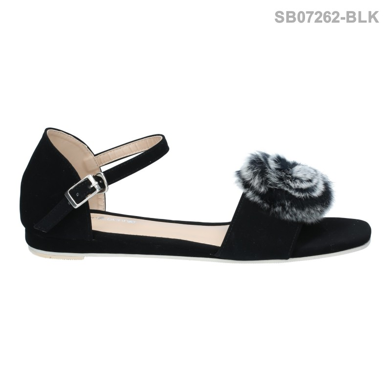 ลดล้างสต๊อก รองเท้าส้นแบน SB07262-BLK [สีดำ]