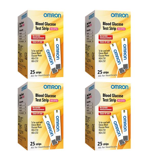 แผ่นตรวจน้ำตาล Ormon HEA 230,232 25 ชิ้น ต่อกล่อง แบบ 4 กล่อง
