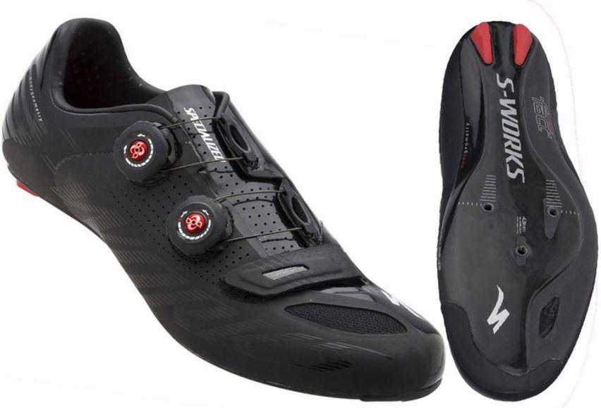 รองเท้าจักรยาน Specialized S-Works Road Shoe สี ดำ BLACK WIDE 41.5/8.5