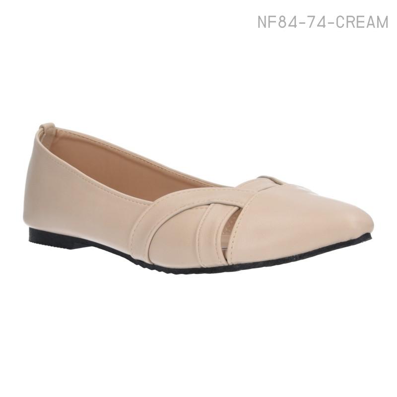 ลดล้างสต๊อก รองเท้าส้นแบน NF84-74-CRE [สีครีม]