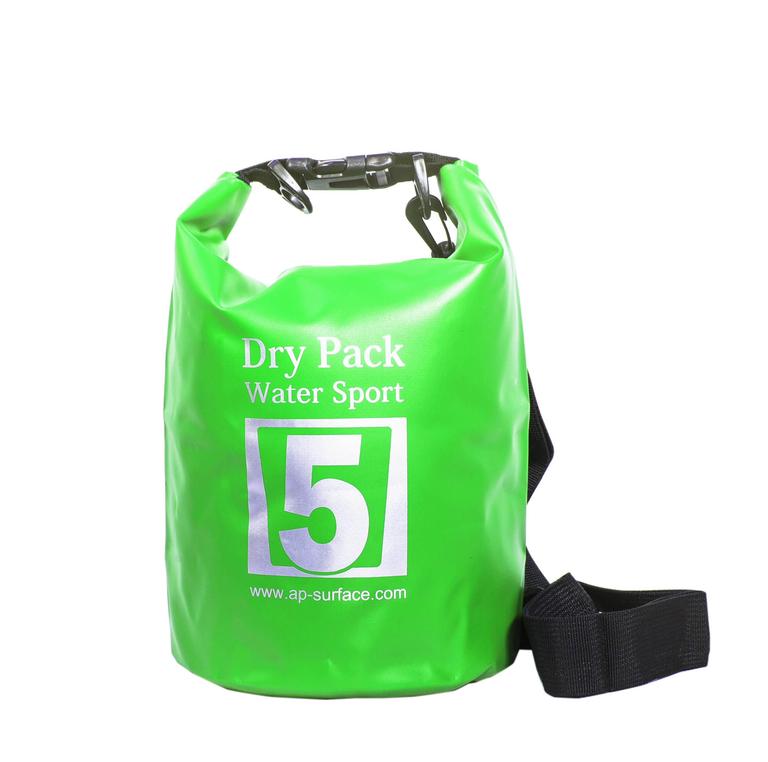 กระเป๋ากันน้ำ Dry pack 5L-สีเขียวตอง