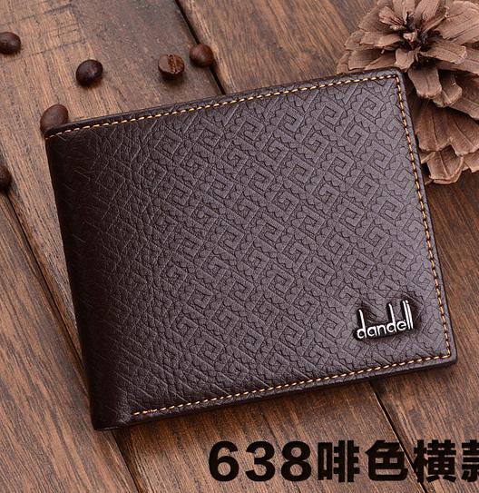 พร้อมส่ง กระเป๋าสตางค์ผู้ชาย นักธุรกิจ แฟชั่นเกาหลี ยี่ห้อ dandeli รหัส DA-638 สีน้ำตาล ทรงนอน *แถมกล่อง