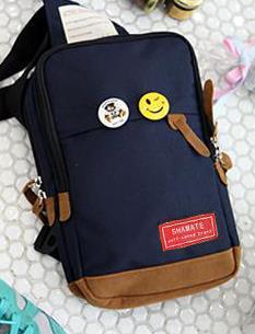 พร้อมส่ง กระเป๋าผ้า คาดไหล่ คาดอก ใช้ได้ทั้งผู้หญิง-ผู้ชายวัยรุ่น นักเรียน แฟชั่นเกาหลี รหัส NA-703 สีน้ำเงิน