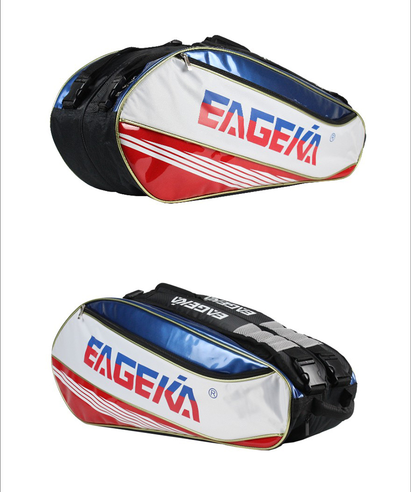 กระเป๋า Eageka ใบกลางสีขาว/แดง/น้ำเงิน