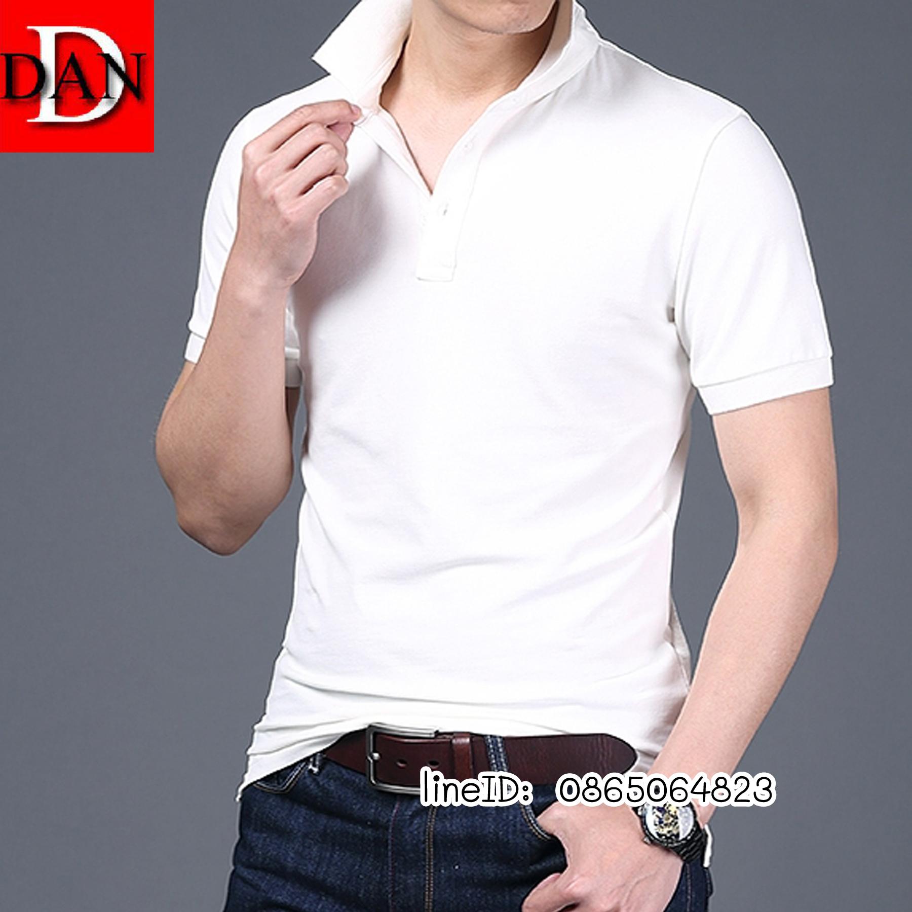เสื้อโปโลจูติ TC สีขาว