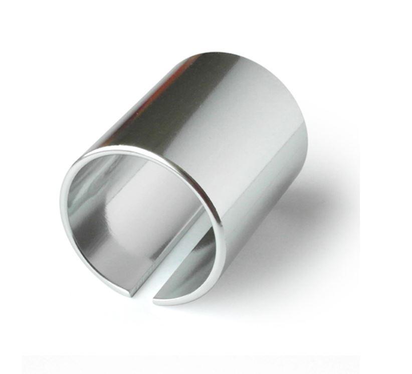 """แปลงคอนิ้ว 25.4 ( 1"""" )ให้ใส่กับสเต็มนิ้วหุน 28.6 ( 1-1/4"""" ) สีเงิน"""