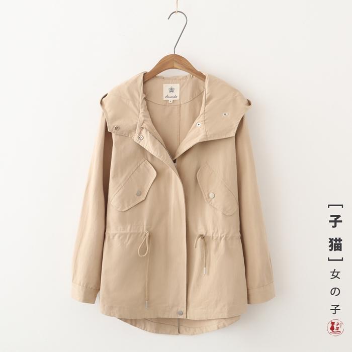 เสื้อคลุม/แจ็คเก็ตฮู้ดแขนยาว (มีให้เลือก 2 สี 2 ไซส์)