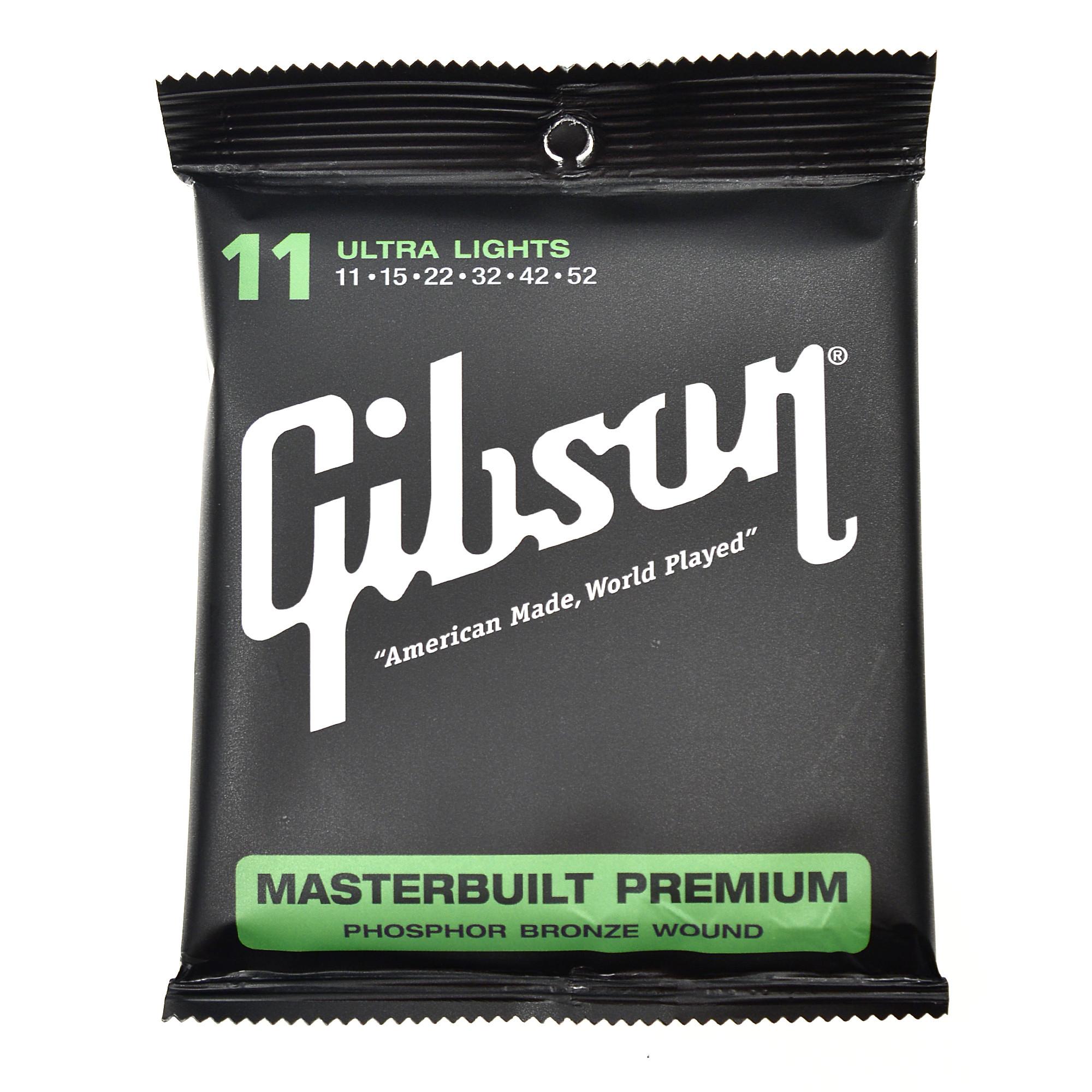 สายกีตาร์โปร่ง Gibson Masterbuilt Premium Ultra Light 011-052