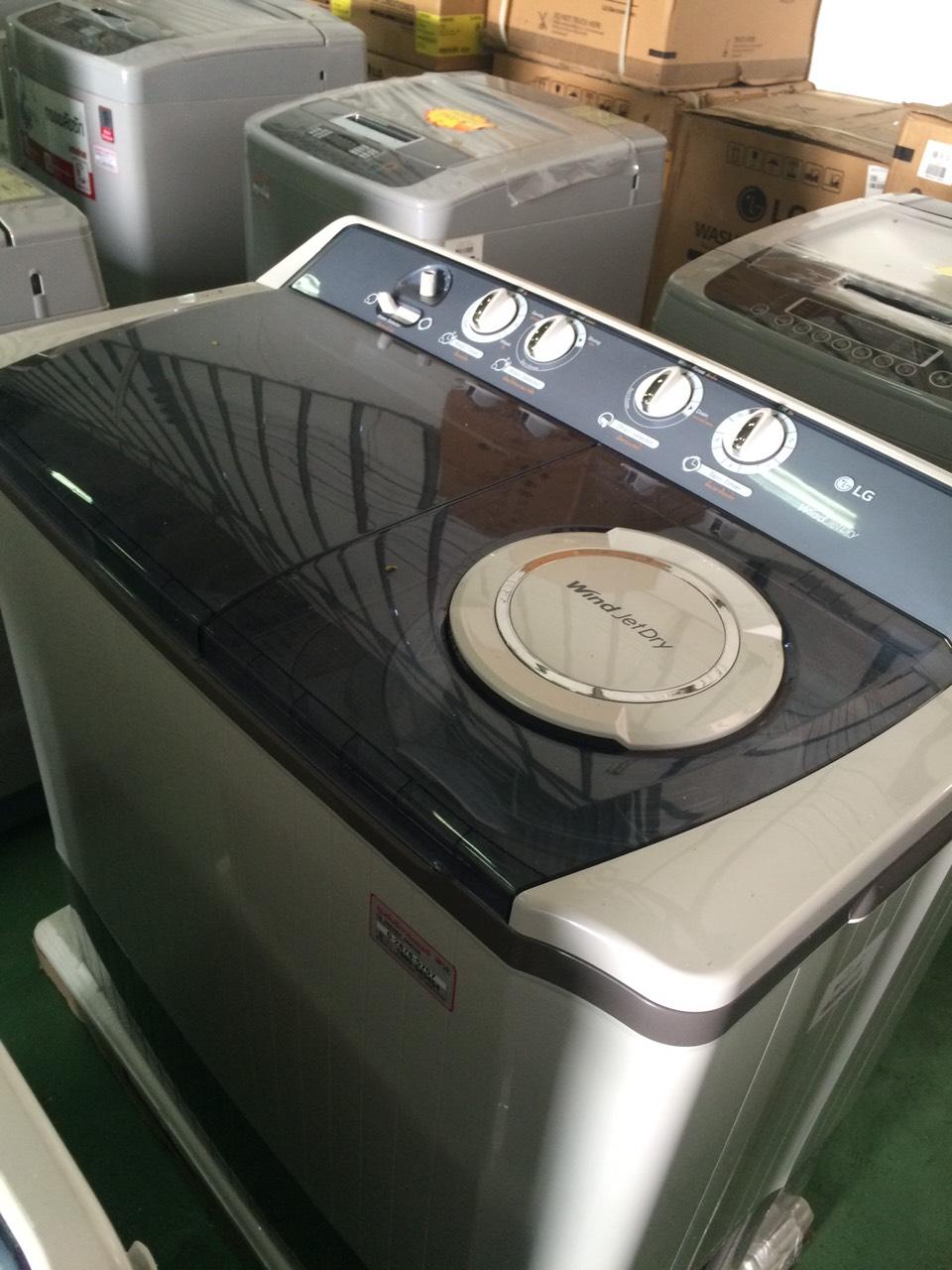 เครื่องซักผ้า 2 ถัง ระบบ ROLLER JET PUNCH + 3 ขนาดซัก 14 KG รุ่นWP-1650WST