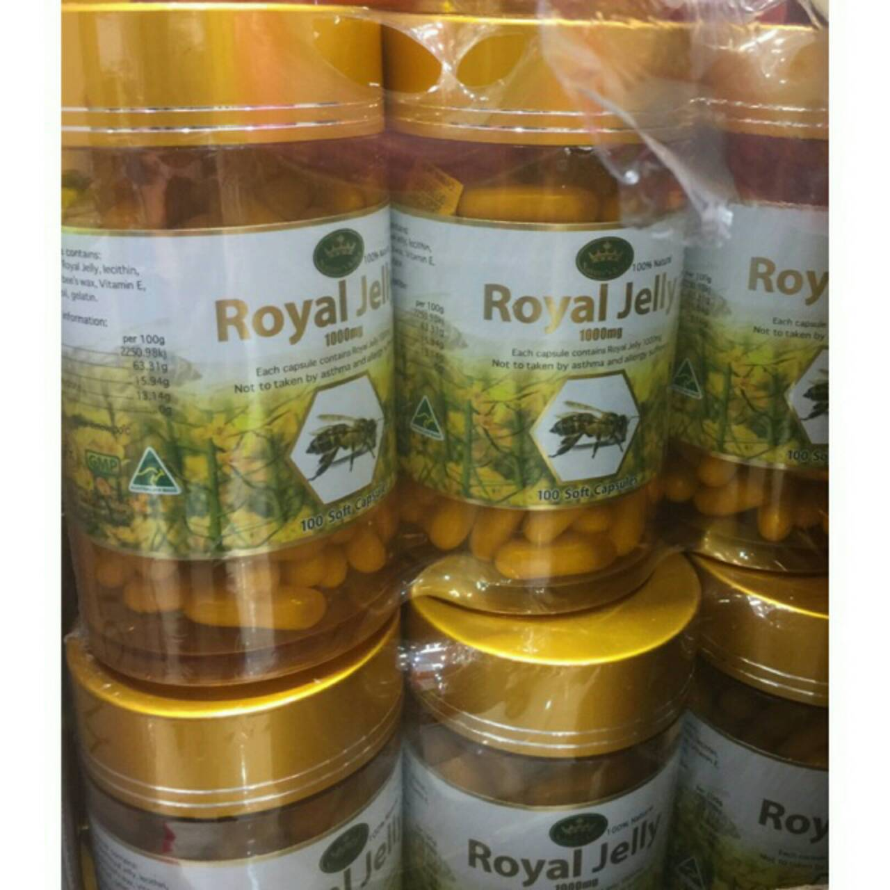 Nature's King Royal Jelly 1000 mg 100 Capsules