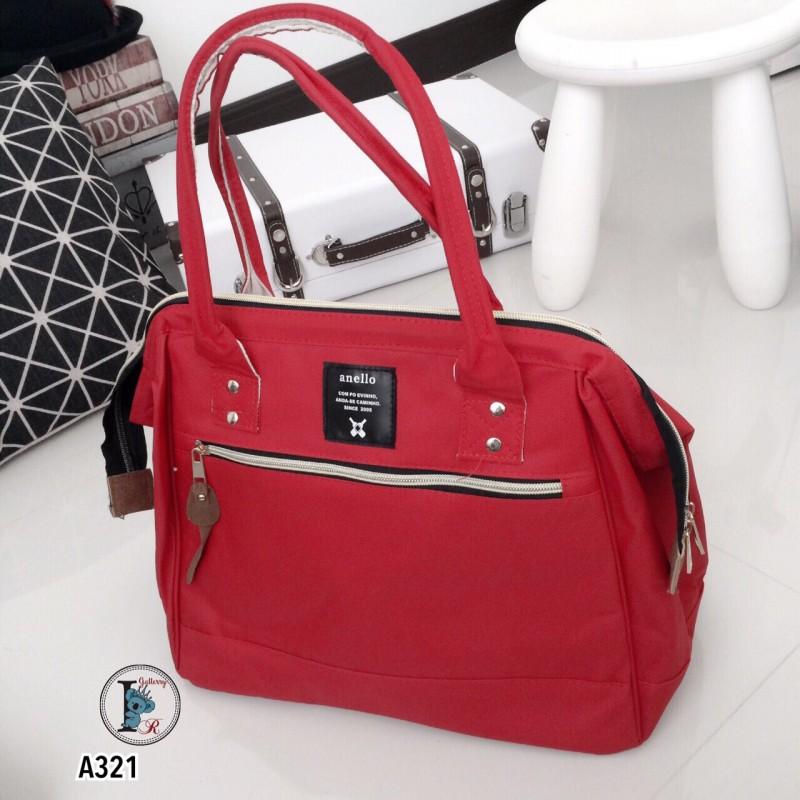 กระเป๋าสะพายแฟชั่น กระเปาสะพายข้างผู้หญิง ถือหรือสะพายไหล่ก็ได้ สไตล์แบรนด์ดัง Anello [สีแดง ]