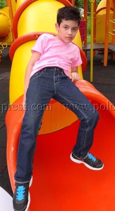 เสื้อยืดเด็ก สีชมพูอ่อน คอกลม แขนสั้น Size S สำเนา