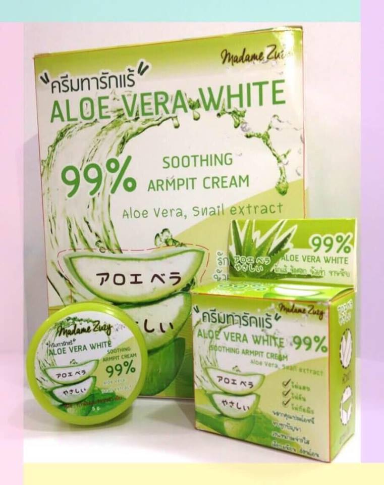Aloe vera white armpit cream ครีมทารักแร้ขาวหางจระเข้เข้มข้น