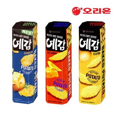 Orion Yegam ขนมเกาหลีมันฝรั่งอบกรอบ ขนาด 60 กรัม แพค 6 กล่อง มี 3 รสให้เลือก