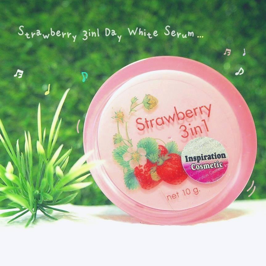 ครีมสตอเบอร์รี่ 3in1 Strawberry Day White Serum เทวดา
