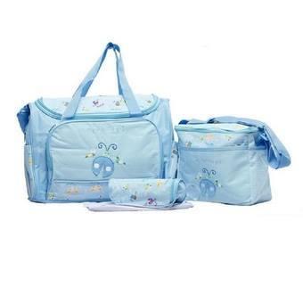 กระเป๋า คุณแม่ สีฟ้า ลายแมลงปอ